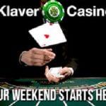 Start je weekend met een 40% bonus bij Klaver casino