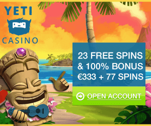 Nieuw: Yeti casino met no deposit free spins bonus